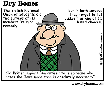 Dry Bones cartoon, antisemitism, NUS, Judaism, Jews, UK, Britain, students, academia,