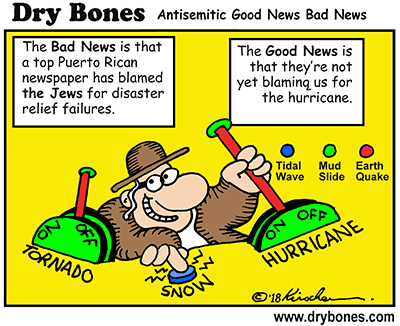 Dry Bones cartoon, Puerto Rico, antisemitism, antisemitic, media,