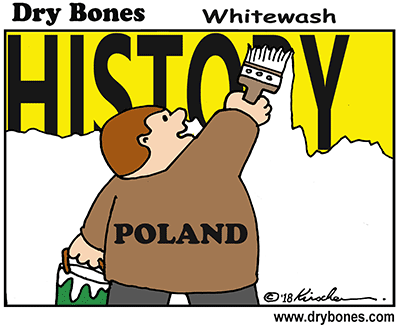 Dry Bones cartoon, Nazi, Poland, Shoah, Holocaust, Concentration Camps, Jews, antisemitism, Death Camps, Polish denial,