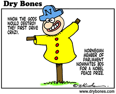 Dry Bones cartoon, Norway, BDS, antisemitism, Palestine, Jews,Israel,