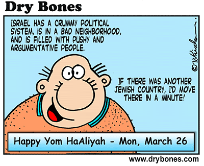 Dry Bones cartoon,Aliyah, Olim, Yom HaAliyah, holiday, Jewish, Israel,