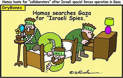 Dry Bones cartoon, Hamas, Israel, Gaza, terrorists,