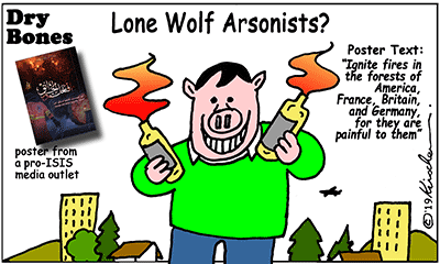 ISIS, Fires, arsonists,Lone Wolf,Islamism, Terror Attacks,