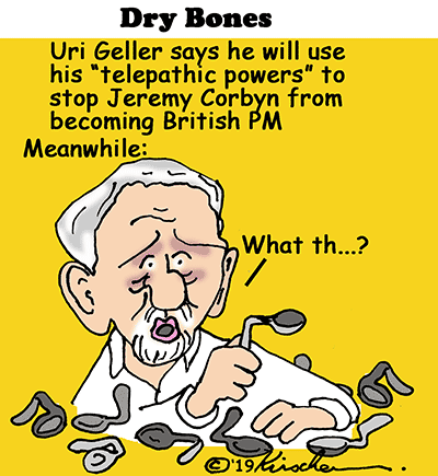 Corbyn, Uri Geller, antisemitism, UK, Labour,Jews,